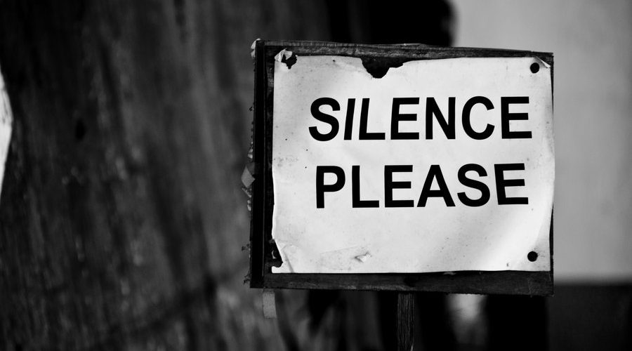 Silence please sign