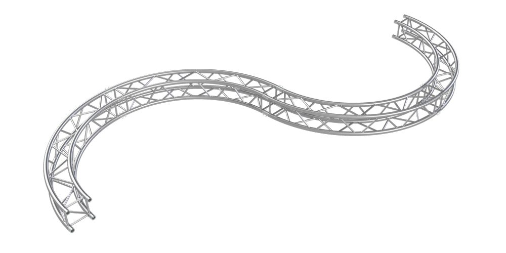 S-shaped truss by Eurotruss