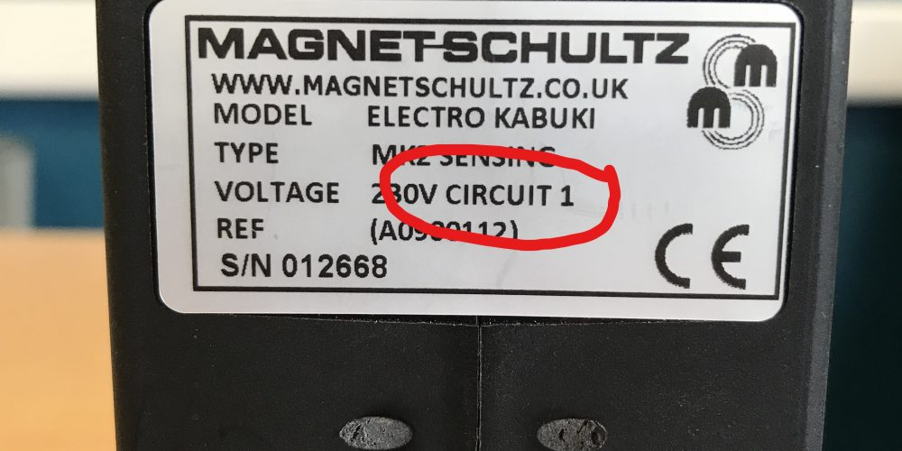 Circuit 1 label on EK dropper module