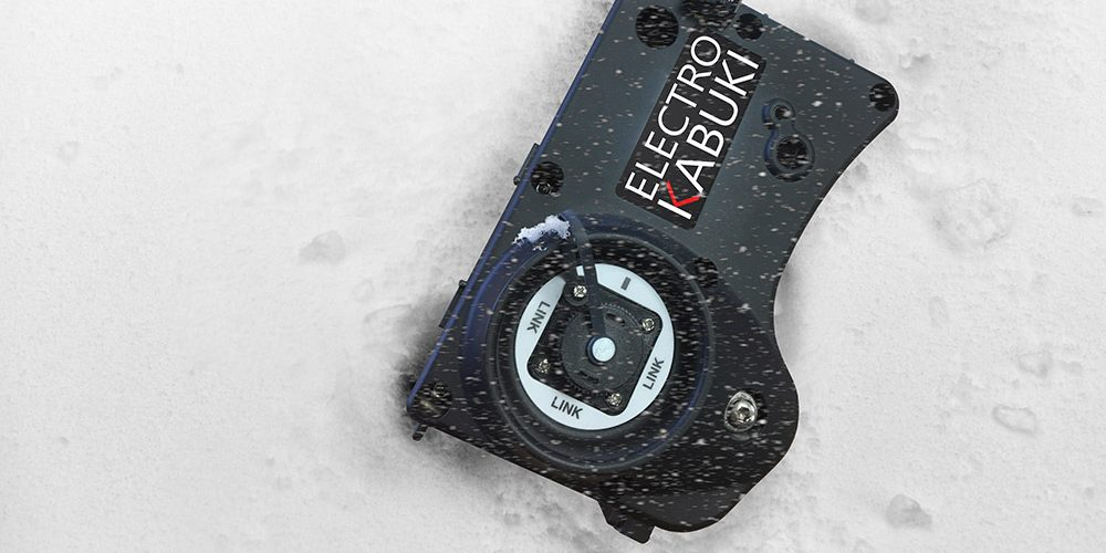Weatherproof EK dropper module in snow