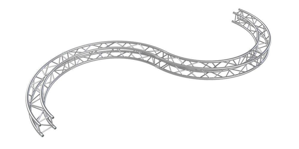 S-shaped truss by Eurotruss