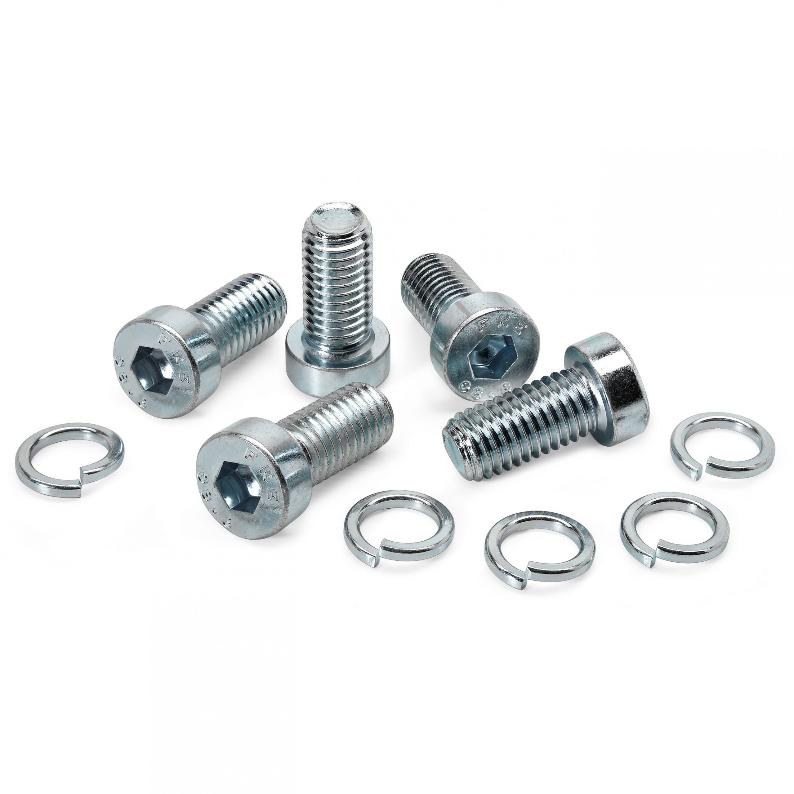 Clamp bolts and washers
