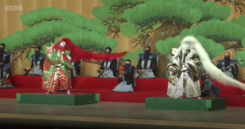 Actors at Kabuki-za Theatre